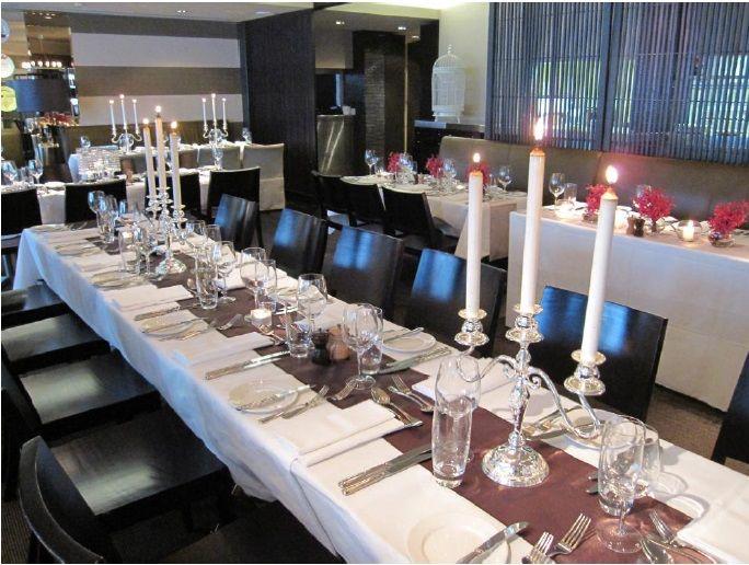 dish Restaurant set for a Reception