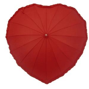 Adorable red Heart Shaped Umbrella