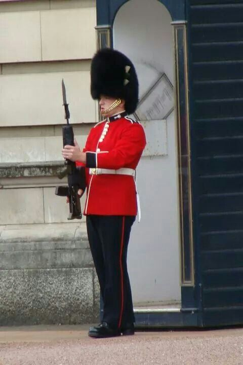 Just before the changing of the guards!