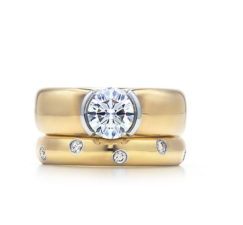 Tiffany & Co. | Engagement Rings | Etoile 18K Yellow Gold | I've ALWAYS loved this set!