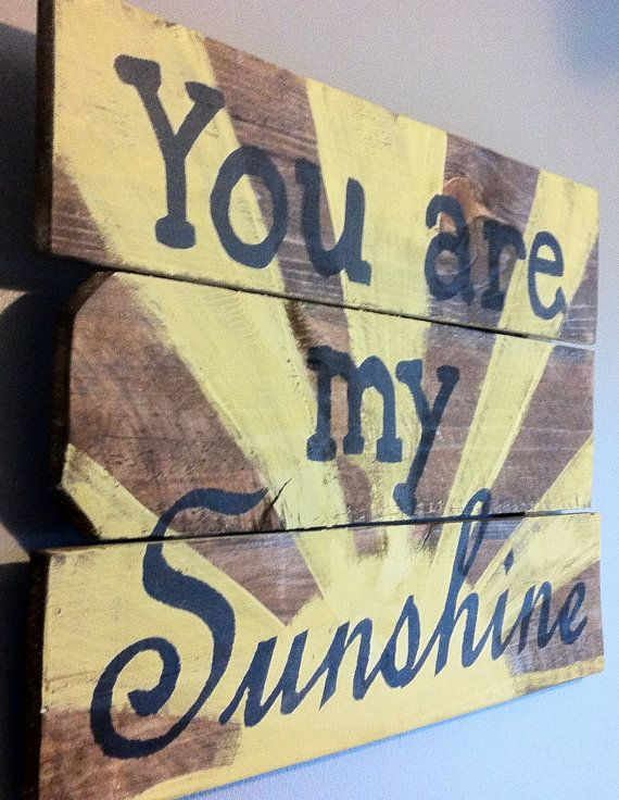 You are my sunshine reclaimed wood sign for nursery by emc2squared, $35.00