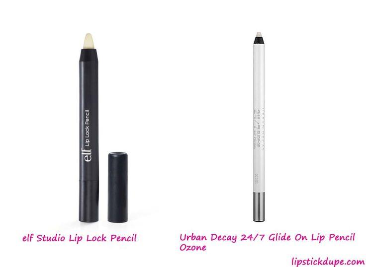 Urban Decay 24/7 Glide On Lip Pencil in Ozone dupe elf Studio Lip Lock Pencil #dupes www.lipstickdupe.com