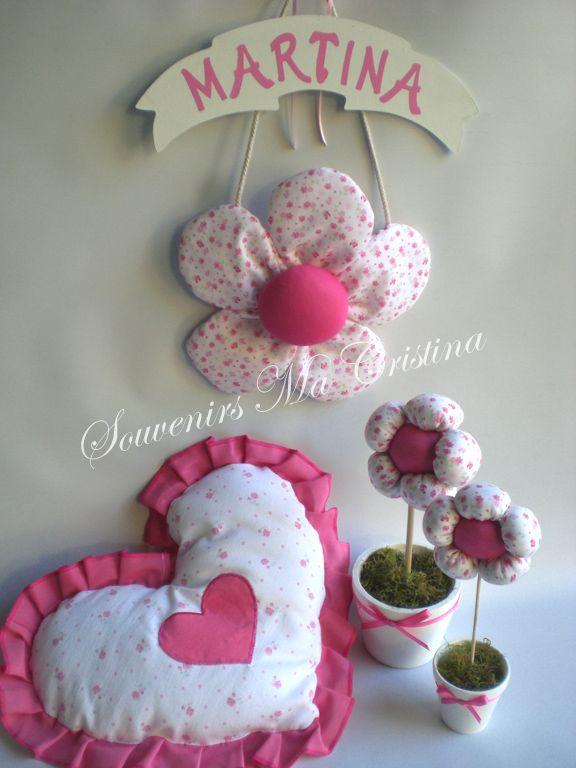 Cartel flor de bienvenida almohad n para decoraci n y - Decoracion con macetas ...
