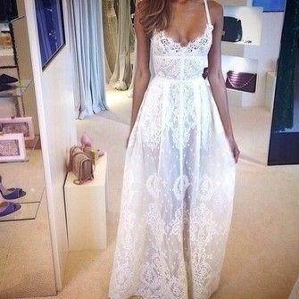 gorgeous sheer sheet amazing dress white lace dress amazing lace dress