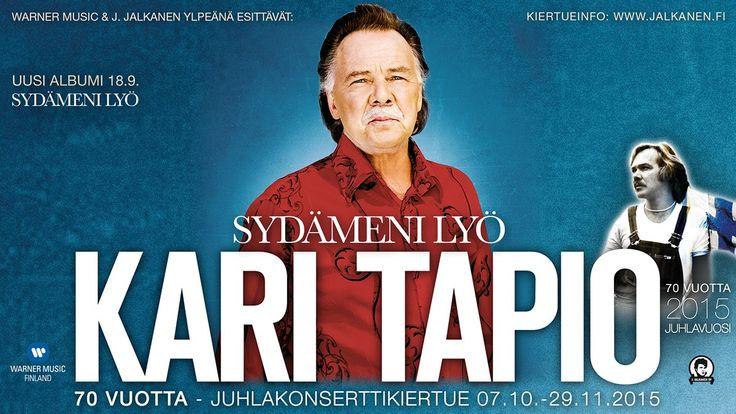 Kari Tapion syntymästä tulee tänä vuonna kuluneeksi 70 vuotta. Juhlavuotta vietetään  Kari Tapio Olen suomalainen 70 vuotta - Sydämeni lyö –juhlakonsertti-kiertueen merkeissä ympäri Suomen.