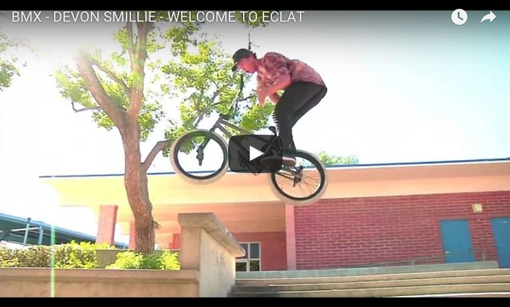Eclat BMX brand picked up Devon Smillie & this is his Welcome to Eclat 2016 video! MUST WATCH!