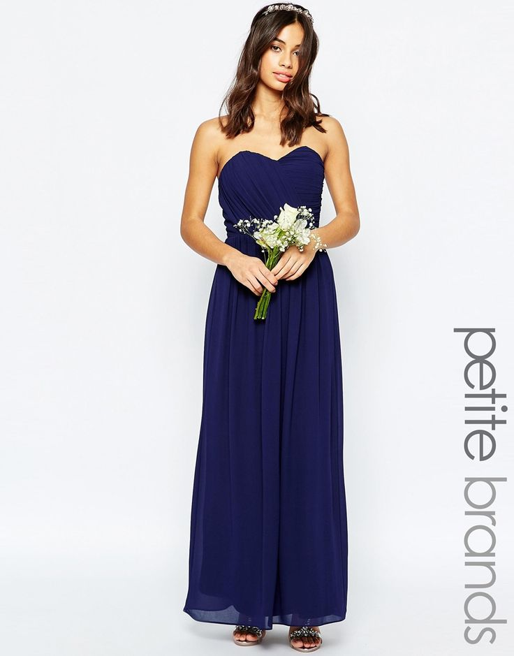 TFNC Petite WEDDING Bandeau Chiffon Maxi Dress