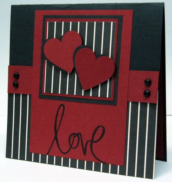 Masculine Valentine by hobbygonecrazy - Cards and Paper Crafts at Splitcoaststampers