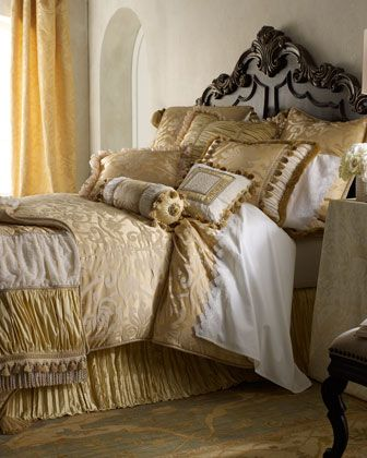 """La Dolce Vita"" Bed Linens by Dian Austin Couture Home at Horchow."