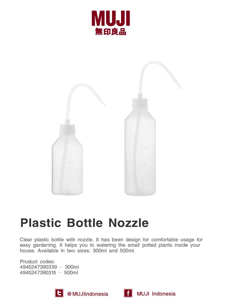 Plastic bottle with nozzle. Very comfortable usage for easy gardening & helps you to watering the small potted plants.