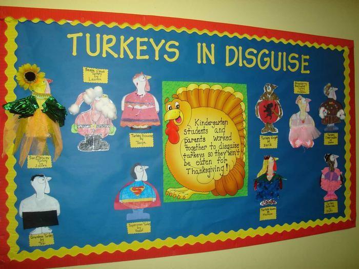 Turkeys In Disguise Thanksgiving Bulletin Board Idea