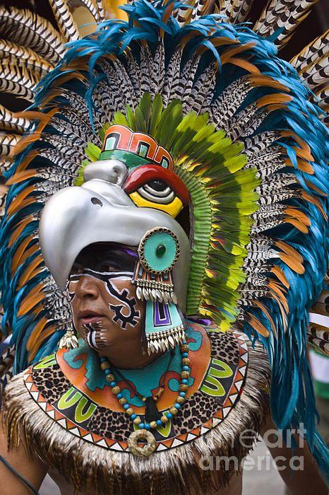 Hawaiian Warrior Headdress Aztec Eagle Warrior Headdress