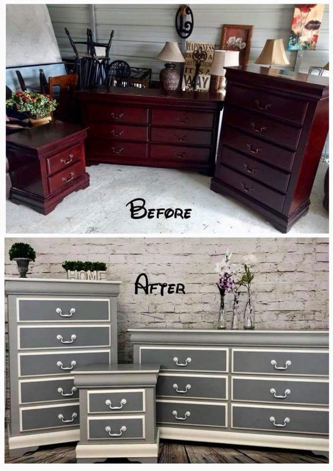1174 best Before And After Painted Furniture images on Pinterest