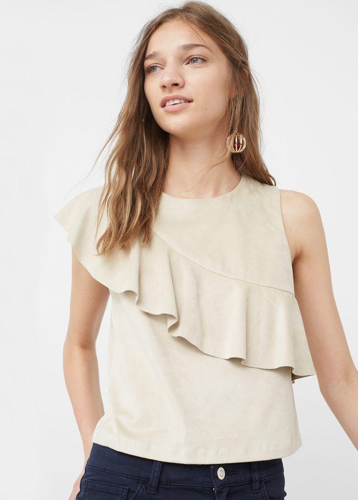 Ruffle top - Shirts for Woman | MANGO USA