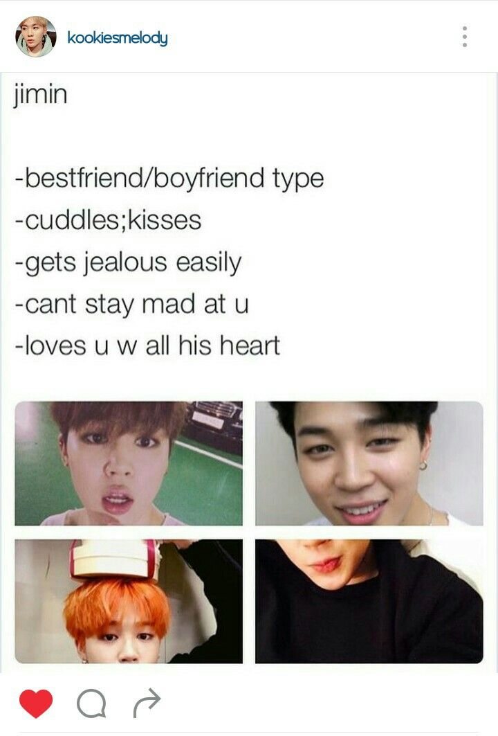 I don't need Jimin as my boyfriend...I'd die just having him as my best friend. I love him so much... -@BeautyandthePoet