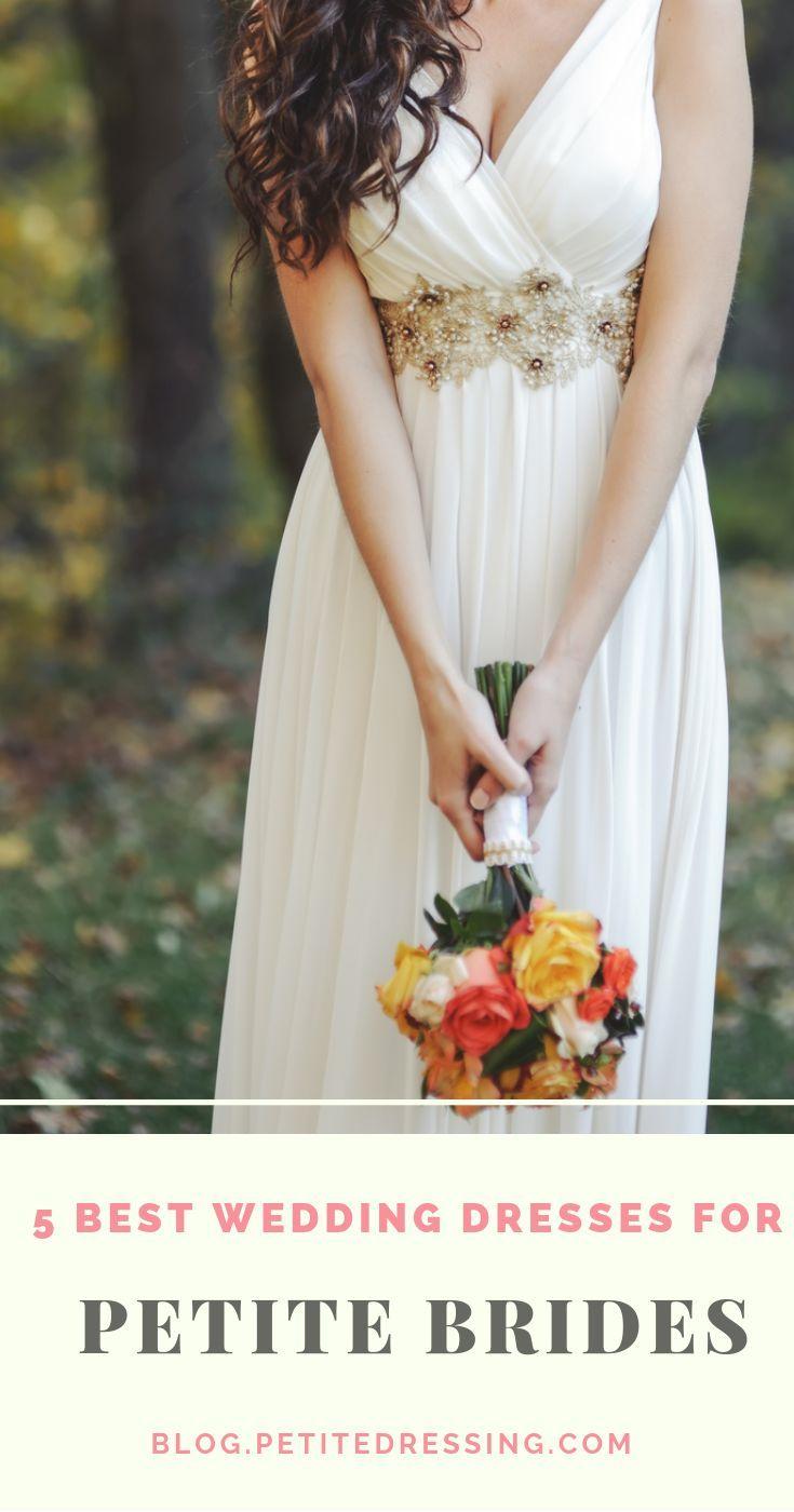 Petite Wedding Dresses Top 5 Choices For Short Brides Petite Wedding Dress Wedding Dresses Petite Bride [ 1400 x 735 Pixel ]