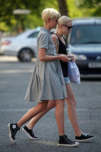 baby doll dress, converse