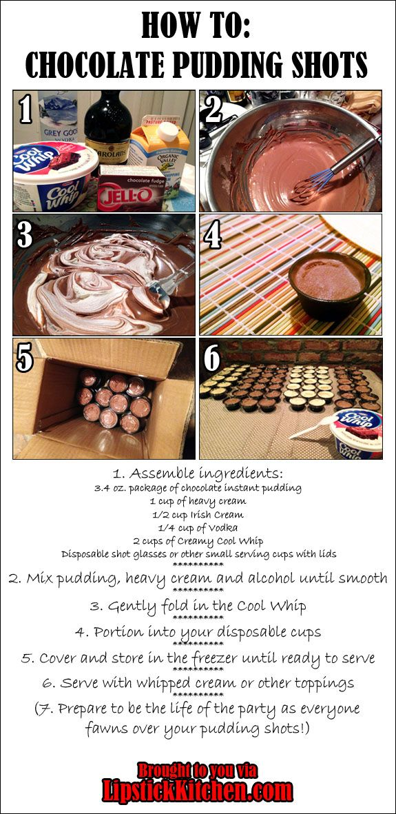 How to make Chocolate Pudding Shots - an easy step-by-step guide.