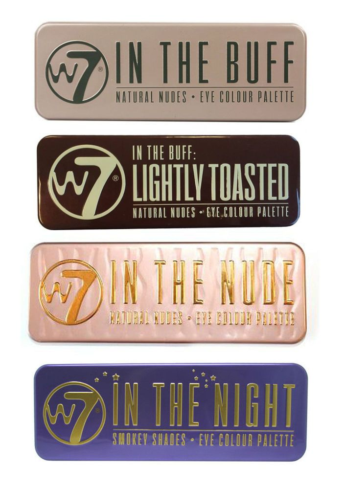 W7 Eye Shadow Palette - Choose from 4 shades  In the Buff, Nude, Night, Toasted