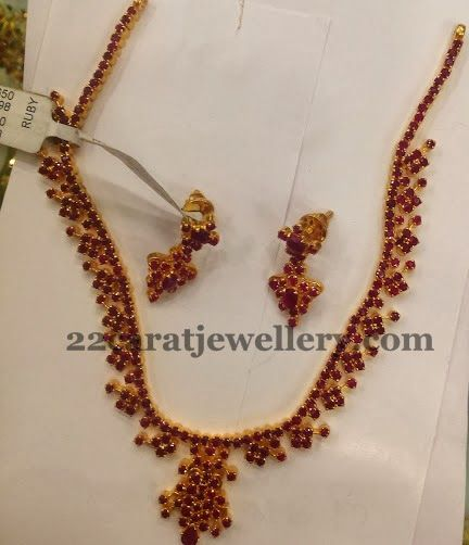 Jewellery Designs: Blood Ruby Necklace