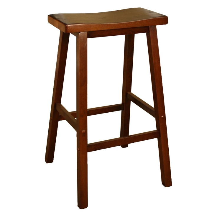 Counter Height Saddle Stools : AHB Wood Saddle Counter Height Stool www