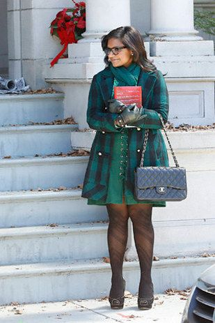 Like this green-on-green-on-green ensemble. | 25 Photos That Definitively Prove Mindy Lahiri Is TV's Best Dressed Character
