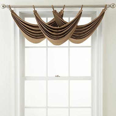 Royal Velvet® Ally Tab-Top Waterfall Valance - jcpenney - living room