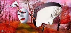 Masks (2012), Digital Art by Sergio Carlos Spinelli
