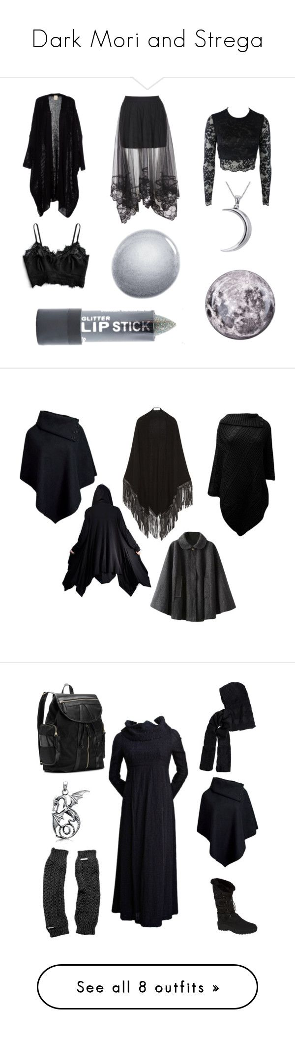 """""""Dark Mori and Strega"""" by yasmeenscales ❤ liked on Polyvore featuring Bec & Bridge, NARS Cosmetics, Stargazer, Carolina Glamour Collection, Seletti, CO, Romeo Gigli, Pajar, Pieces and Madden Girl"""