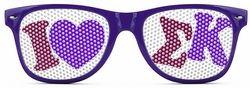 Sigma Kappa Wayfarer Style Lens Sunglasses SALE $12.95. - Greek Clothing and Merchandise - Greek Gear®