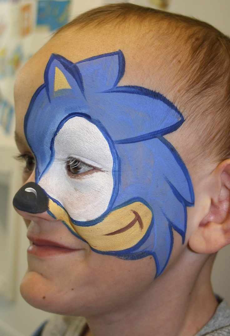sonic face paint - Google Search