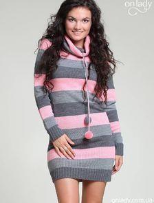 Платье полосатое вязаное купить