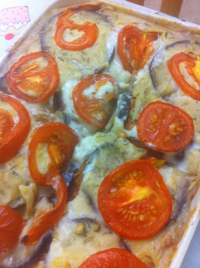 Red Lentil & Aubergine Layer #vegan #wheatfree