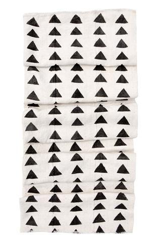 Triangles Mudcloth Throw - LEIF