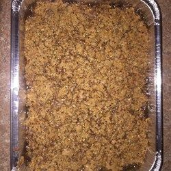 "Sweet Potato Crunch Casserole - Allrecipes.com -- Recipe by: kellyklsu  ""A Southern take on the traditional sweet potato casserole; a creamy sweet potato base covered liberally with a crunchy pecan praline topping. This dish is great even at room temperature."""