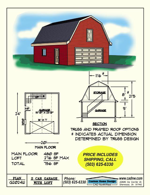 2 car barn style gambrel roof garage with loft   2 car Garage Plans162 best Plans for Backyard Cottage images on Pinterest   Backyard  . Gambrel Garage With Apartment Floor Plans. Home Design Ideas