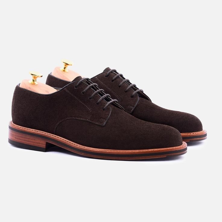 Dunham Derby - Water repellent Suede - Brown