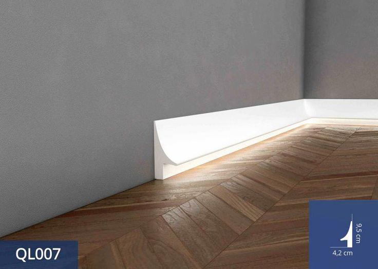 Listwa podłogowa z oświetleniem LED QL007 to nowoczesna forma dekoracyjna dla Twojego domu. Jej montaż w pomieszczeniu może całkowicie zdeterminować jego charakter. #baseboard #listwyoswietleniowe #listwyprzypodlogowe #oswietleniowe #Interior #Decoration