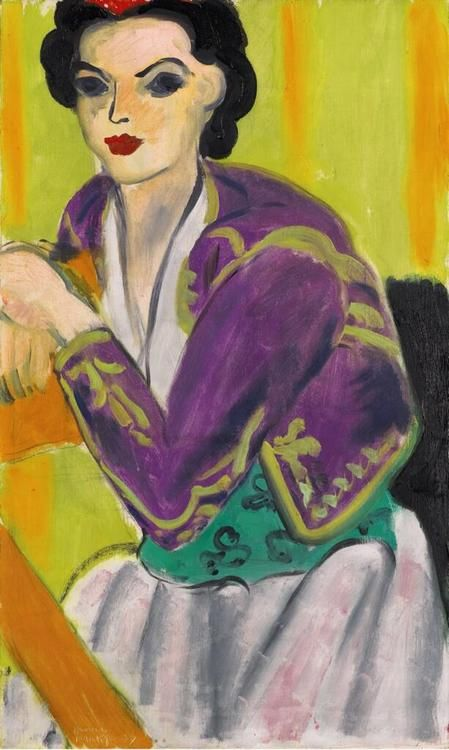 "Henri Matisse: ""Boléro violet"", 1937.i had never seen this Mattise before, beautiful."