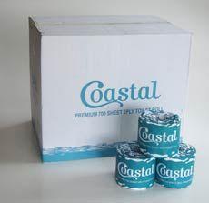 Toilet Rolls 2ply 700sheet - Coastal brand - special until 29 Jan 2017 only $66.83+GST per carton 48rolls