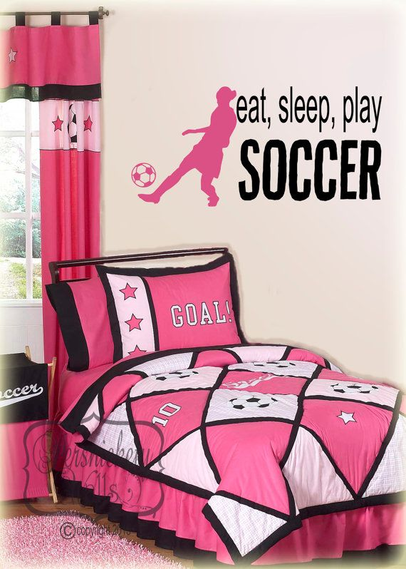 Hey, I found this really awesome Etsy listing at https://www.etsy.com/listing/171795489/eat-sleep-play-soccer-vinyl-wall