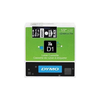 Dymo Dymo D1 Standard Tape Cartridge For Dymo Label Makers, 1/2In X 23Ft, White