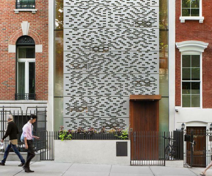 Custom Water Cut Aluminum Rain Screen, With Brick Shaped Openings /// Urban