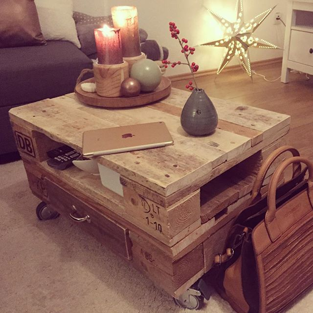 Rustic Design, Pallet Projects, Pallet Crafts, Euro Pallets, Side Tables,  Pallet Furniture, Furniture Ideas, Interior Design, House