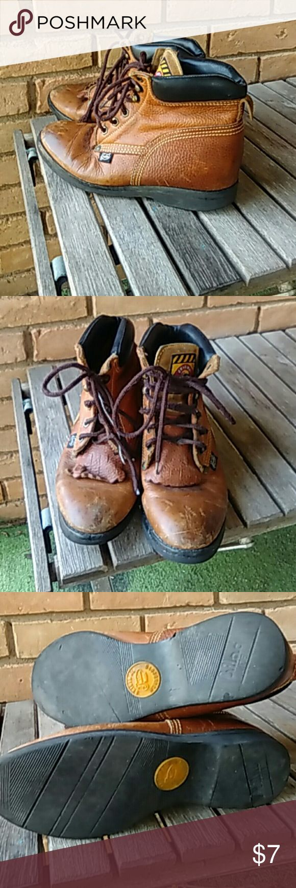 Justin work boot Justin workbook lace up,great shape justin Shoes Boots