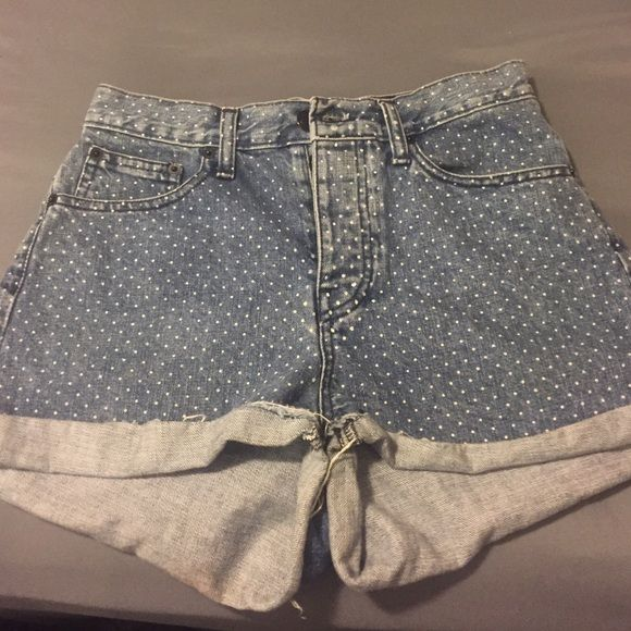 Brandy Melville shorts High waisted brandy Melville shorts polka dots says it's a size 40 but it fits like a size 3 Brandy Melville Shorts