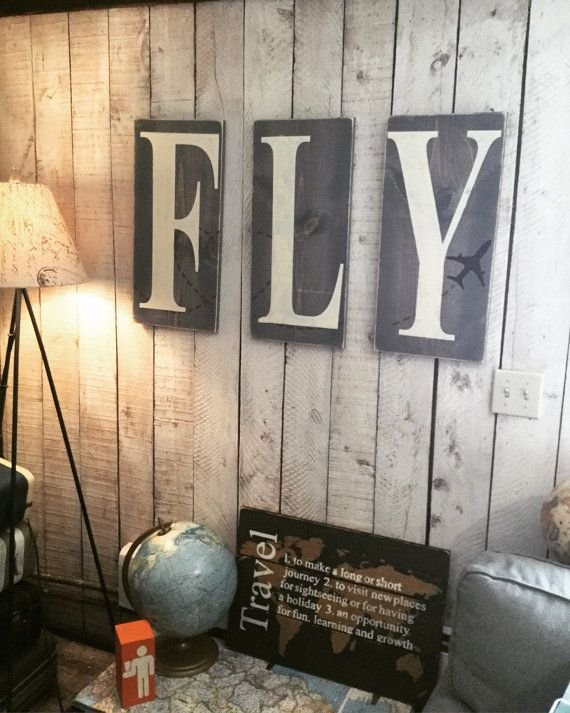 Children's Nursery Decor - Pilot Gift - Aviation - Airplane Nursery Decor - Rustic Decor- Airplane Art - Gift for Pilots- Travel Art - Fly