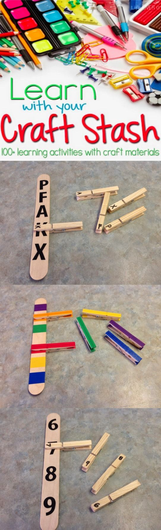 I use clothespins for teaching a variety of skills in my classroom. I love that they can be used with students across abilities for a wide range of learning activities. #Autism | found on Adventures in the ATC - a blog about my experiences teaching students with Autism