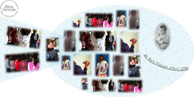 Défi 1er Avril, Poisson d'Avril by Bébé Sérénité collage - rire - enfant - petit grand - farce - blague nouveau né - massage - bien-être - bienfaits - heureux