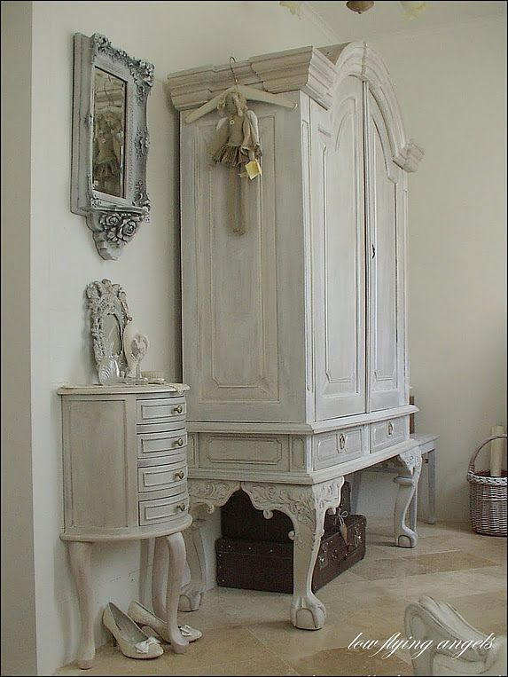 379 best images about shabby chic armoires on pinterest. Black Bedroom Furniture Sets. Home Design Ideas